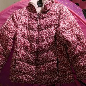 Cheetah print coat with soft inside